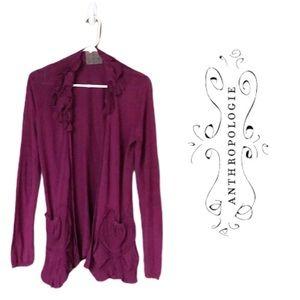 Anthropologie Guinevere Purple Cardigan-e1